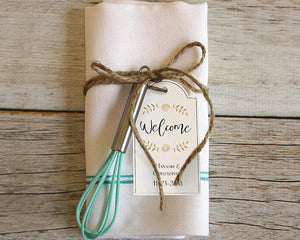Welcome Personalized Classic Statement Wedding Hang Tags - Set of 12 - Love Wedding Shop