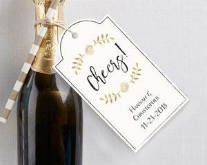Cheers Personalized Classic Statement Wedding Hang Tags - Love Wedding Shop