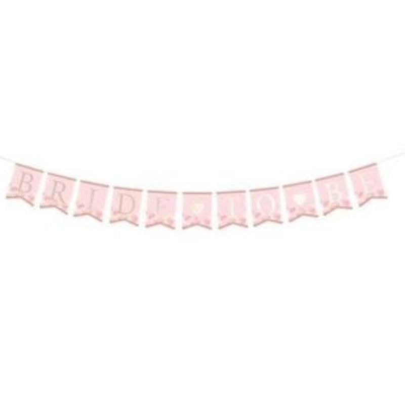 Pink and Gold Bride to Be Banner - Love Wedding Shop