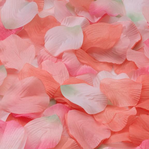 Pink and Orange Rose Petals - Love Wedding Shop