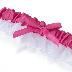 Pink Satin Wedding Garter - Love Wedding Shop