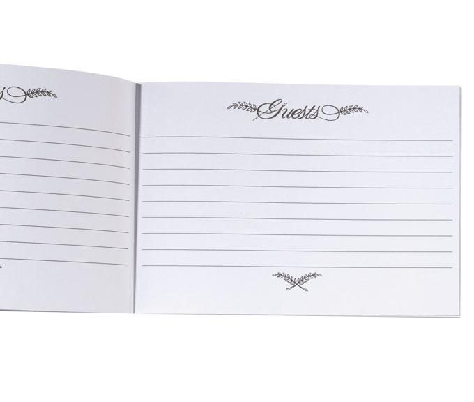 Pleated Taupe Wedding Guest Book - Love Wedding Shop