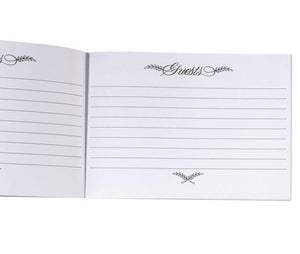 Pleated White Wedding Guest Book Page - Love Wedding Shop