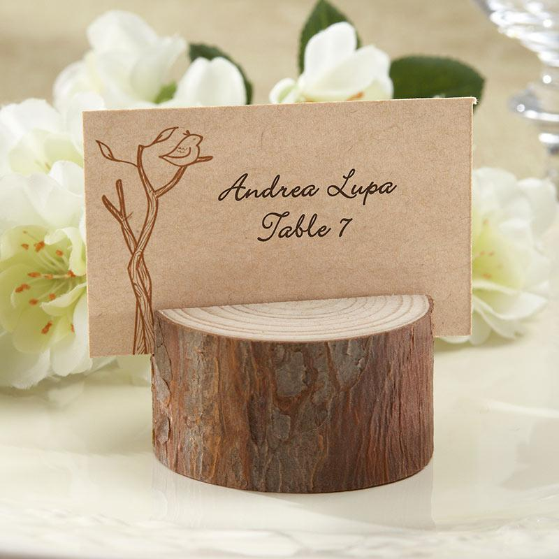 Real Wood Place Card Holder - Love Wedding Shop