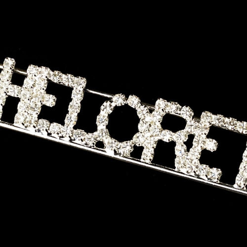 Rhinestone Bachelorette Brooch - Love Wedding Shop