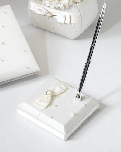 Scattered Pearl Ivory Wedding Pen Set - Love Wedding Shop
