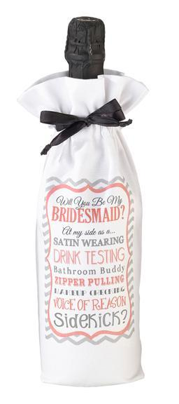 Sidekick Will You Be My Bridesmaid Wine Bag - Love Wedding Shop
