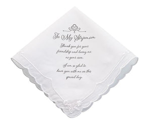 Stepmom Wedding Handkerchief - Love Wedding Shop