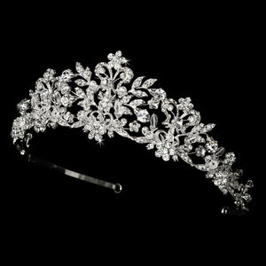 Swarovski Crystal and Pearl Bridal Tiara - Love Wedding Shop