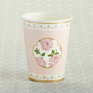 Pink Tea Time Whimsy Paper Cups - Love Wedding Shop