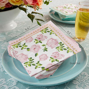 Tea Time Whimsy Napkins on Plate - Love Wedding Shop