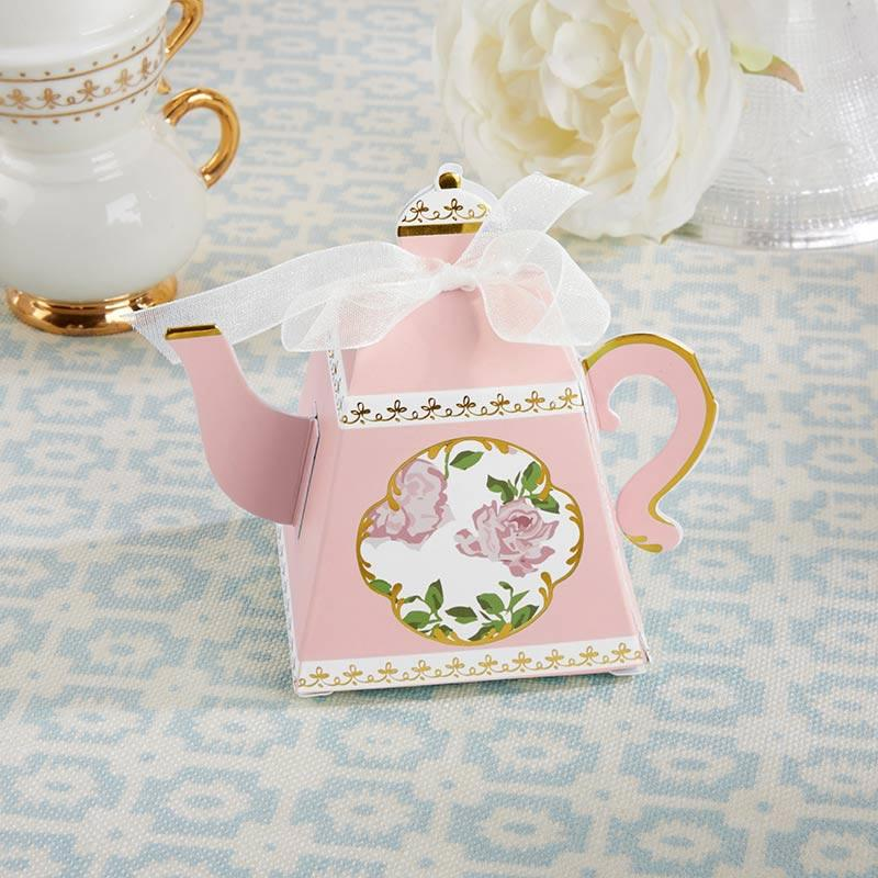 Tea Time Whimsy Pink Teapot Favor Boxes - Set of 24 - Love Wedding Shop
