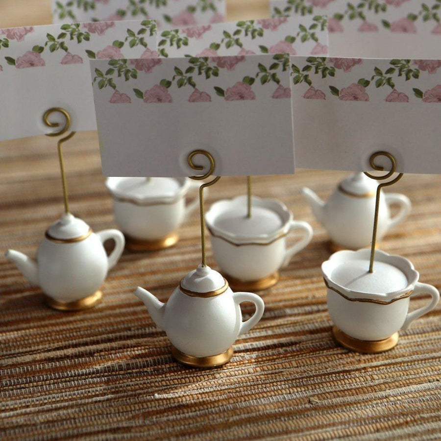 Tea Time Whimsy Place Card Holders - Love Wedding Shop