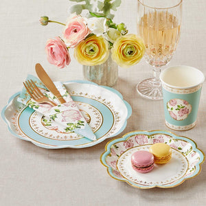 Aqua Tea Time Whimsy Tableware Set for 16 Guests - Love Wedding Shop