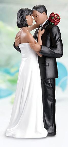 Tender Moment African American Wedding Cake Topper - Love Wedding Shop