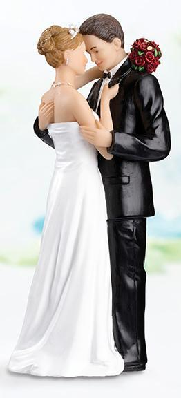 Tender Moment Bride and Groom Cake Topper - Caucasian - Love Wedding Shop
