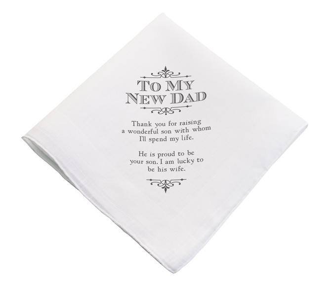 Father-in-Law Handkerchief From Bride - Love Wedding Shop