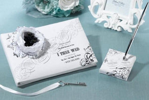 True Love Guest Book and Pen Set - Love Wedding Shop