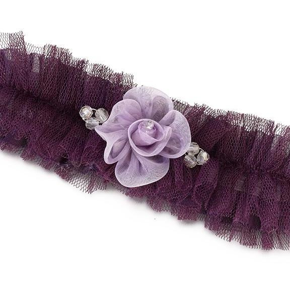 Pink Tulle Wedding Garter with Flower - Love Wedding Shop