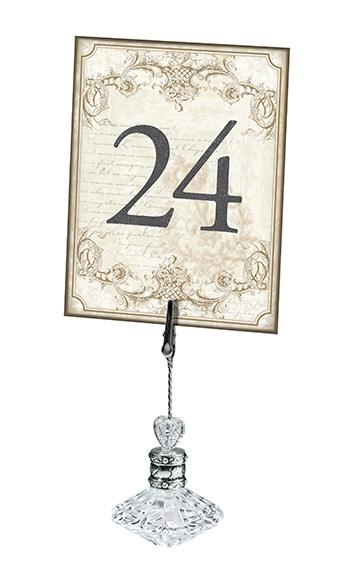 Vintage Gold Table Numbers - Love Wedding Shop