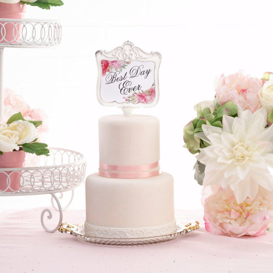 Watercolor Best Day Ever Wedding Cake Topper - Love Wedding Shop