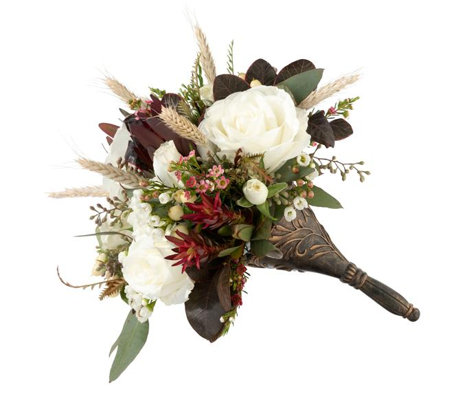 Bronze Wedding Bouquet Holder - Love Wedding Shop