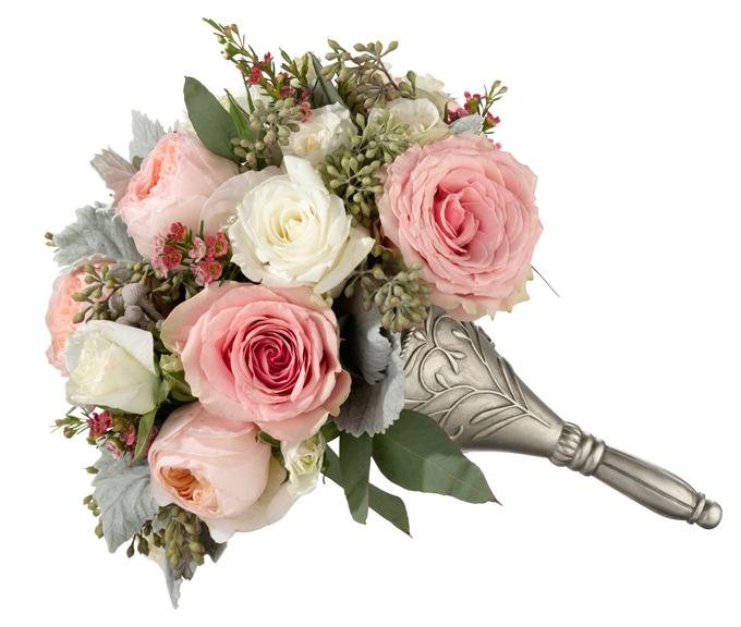 Silver Wedding Bouquet Holder - Love Wedding Shop