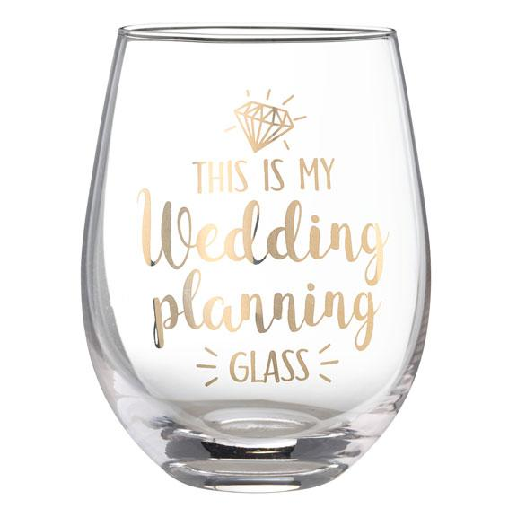This is My Wedding Planning Glass - Stemless Wine Glass - Love Wedding Shop