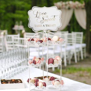 Love is Sweet Take a Treat White and Gold Wedding Sign - Love Wedding Shop
