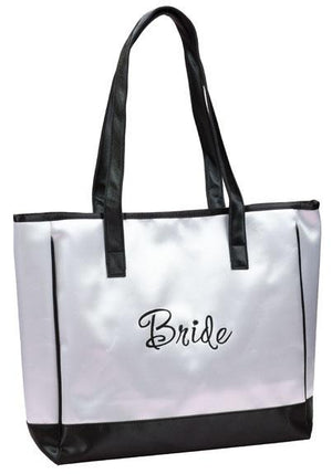 White Bride Tote Bag - Love Wedding Shop