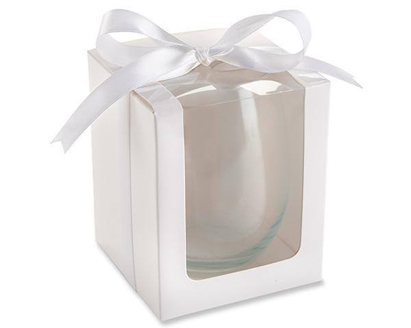 White Glassware Gift Box -Set of 12 - Love Wedding Shop