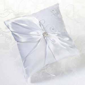 White Lace Ring Bearer Pillow - Love Wedding Shop