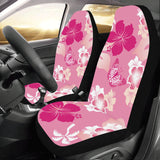 Pink Hibiscus Hawaiian Car Seat Covers