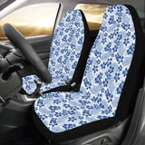 Blue Plumeria Hawaiian Car Seat Covers