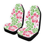 Pink and Green Hibiscus Hawaiian Car Seat Covers