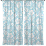 SEA TURTLES AND UKULELES CURTAINS FROM SURFER BEDDING