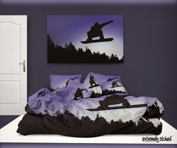 SNOWBOARD DUVET COVER SET FROM EXTREMELY STOKED