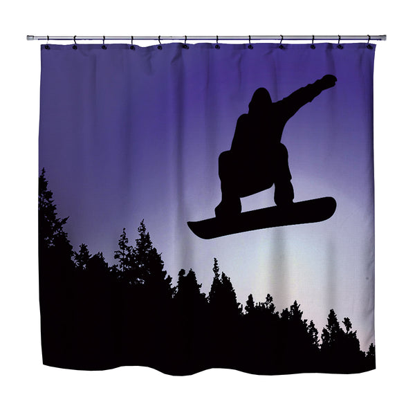 SNOWBOARD SHOWER CURTAIN BIG AIR