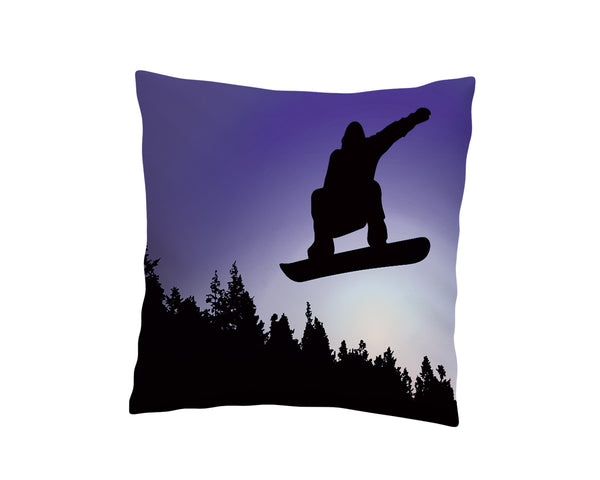 BIG AIR SNOWBOARD THROW PILLOW COVER