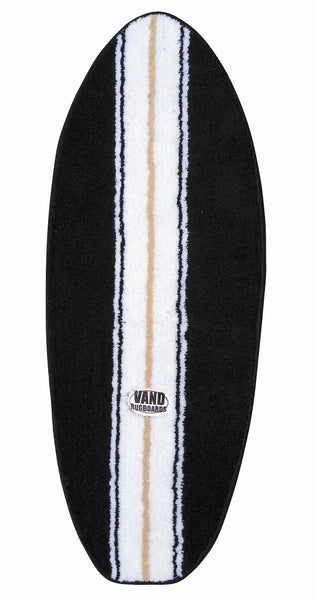 Boys Black Surfboard Rug