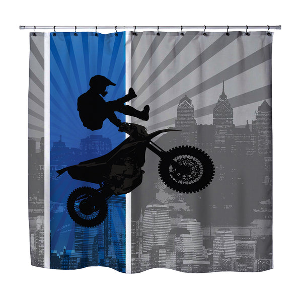 DREAM IN EXTREME MOTOCROSS SHOWER CURTAIN FROM EXTREMELY STOKED