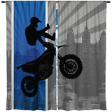 "Blue ""Dream In Extreme"" Motocross Duvet Cover Set Eco Friendly Bedding from Extremely Stoked"