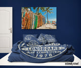 NORTH SHORE HALEIWA, HAWAII SURFER BEDDING DUVET COVER SET
