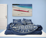 HALEIWA, HAWAII NORTH SHORE SURFER BEDDING DUVET COVER SET