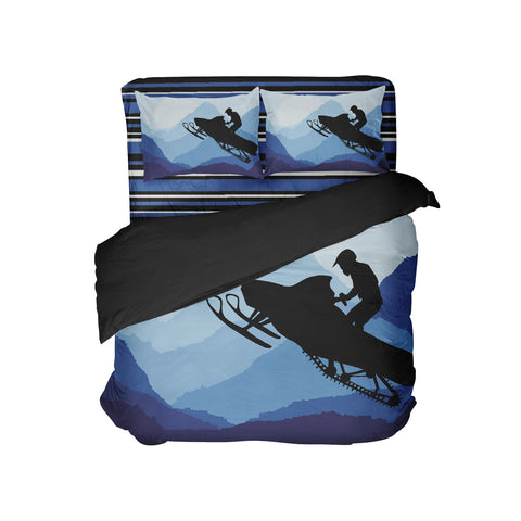 Kids Snowmobile Comforter from Extremely Stoked