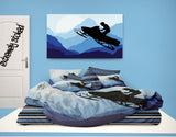 Blue Snocross Bedding Snowmobile Comforter from Extremely Stoked