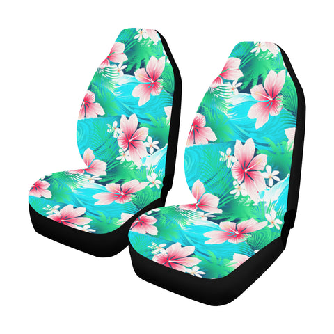 Tropical Hibiscus Hawaiian Car Seat Covers