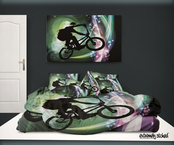 BMX DUVET COVER FROM EXTREMELY STOKED BMX BEDDING
