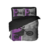 DREAM IN EXTREME PURPLE MOTOCROSS DUVET COVER BEDDING SET FROM EXTREMELY STOKED