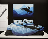Snocross Bedding Snowmobile Comforter from Extremely Stoked